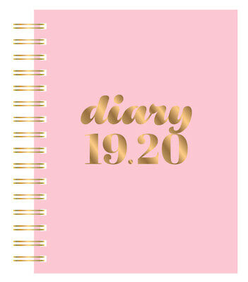 2019-2020 Financial Year Diary Collins Scandi A5 Day to Page Pink PW51M