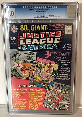 Justice League Of America #39 - Cgc 7.0 - 80 Page Giant - Off White/white Pages