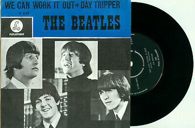 """the BEATLES We Can  Work it Out (1965 DUTCH First PS PARLOPHONE R 5389 VINYL 7"""")"""