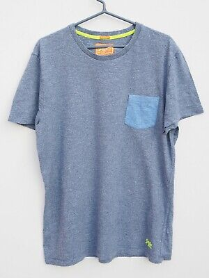 Fantastic SUPERDRY Men's Blue/Grey Marl T Shirt / Top size XL / Fit Chest 42-44""