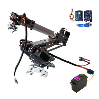 Wifi Control 6 DOF Mechanical Metal Robot Arm Claw with Servos for Arduino