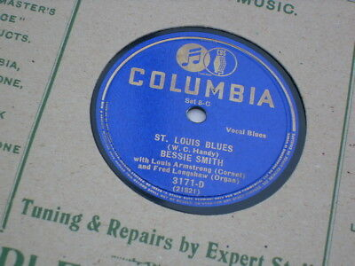 "Bessie Smith 10"" 78 Rpm Record ""st Louis Blues"" Us Columbia Issue."