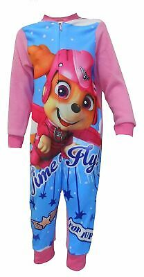 Paw Patrol Time To Fly Girls Snuggle Fit Fleece Sleepsuit