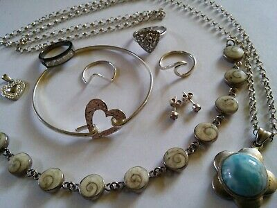 Sterling Silver Job Lot Not Scrap - Wear Or Collect 46 Gram