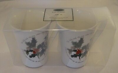 2 Portmeirion The Holly & The Ivy Mandarin Coffee, Breakfast  Or Tea Mugs BNIB