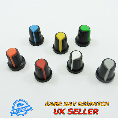 Volume Control Rotary Plastic Knob 6mm for Potentiometer High 17mm Sound Switch