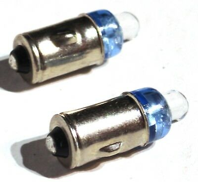 LED light bulbs(2) blue 1274 clock dash bulb one contact base 12V for Peterbilt