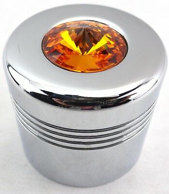 glove box knob cover amber jewel chrome aluminum for Peterbilt Kenworth