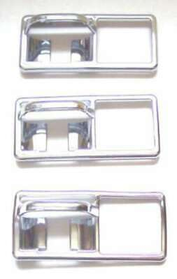 "switch guard trim(3) rocker chrome plastic older Freightliner 3 3/8"" X 1 1/2"""
