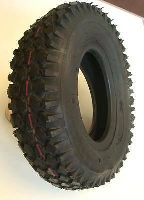 4.10/3.50-6 Black Block Mobility Scooter Tyre 410/350x6