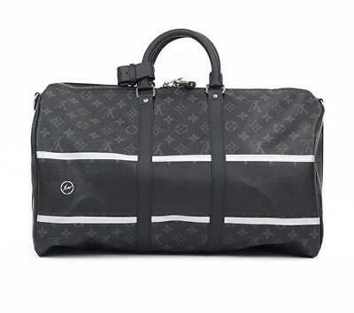 932ae2d9b541 Louis Vuitton auth fragments KeepAll Fragment Monogram Eclipse Bag limited  authe