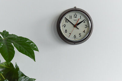 Vintage Small Round Bakelite Smiths Sectric Wall Clock