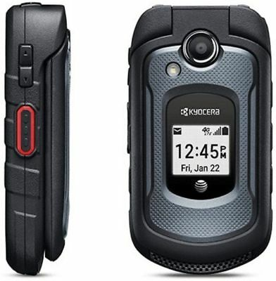 NEW Kyocera DuraXE E4710 PTT-GSM AT&T LTE 4G CAMERA RUGGED CELL FLIP PHONE BOX $