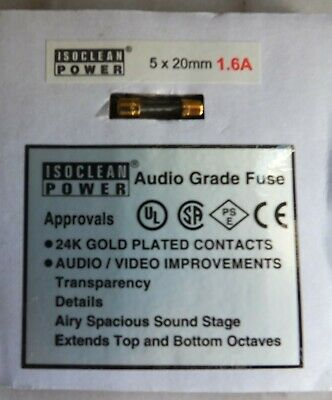 Isoclean Power Audio Grade Fuse 20mm x 5mm - (T1.6A slow blow)