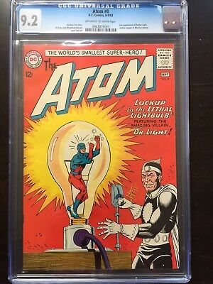 ATOM #8 CGC NM- 9.2; OW-W; Justice League app.; 2nd app. Doctor Light!