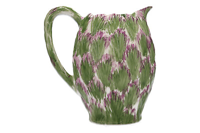 A vintage pottery jug Thistle design Hand painted
