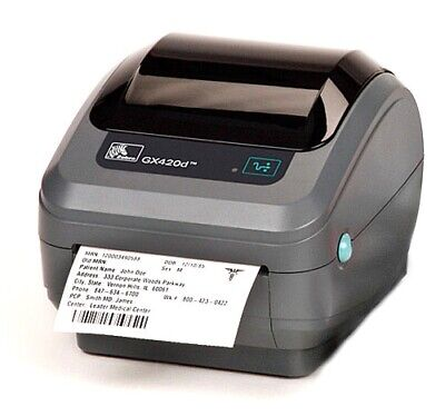 50mm x 38mm White Thermal Direct Zebra Printer Labels 500 Per Roll 25mm Core