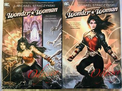DC Wonder Woman Odyssey Vol 1 & 2 Hardcover by J. Micheal Straczynski SEALED!