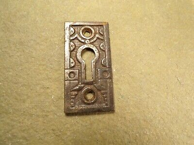 Antique / Vintage Cast Iron Eastlake / Victorian Keyhole Cover Escutcheon Plate