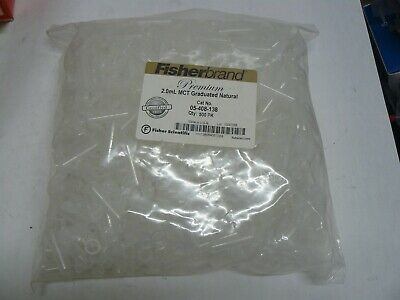 New 500 Fisherbrand 2.0Ml Mct 05-408-138 Graduated Microcentrifuge Tubes Fisher