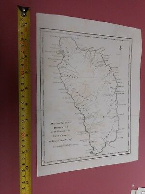 100% Original Island Of Dominica Map By Stockdale/edwards C1794 West Indies