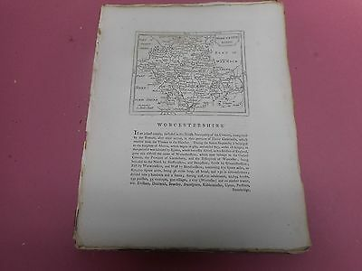 100% Original Worcestershire Map By Seller/grose C1790 Vgc