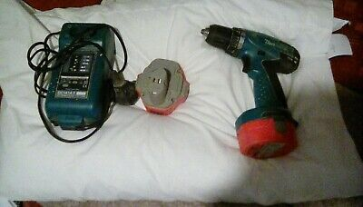 makita 14.4 drill  two battery and charger