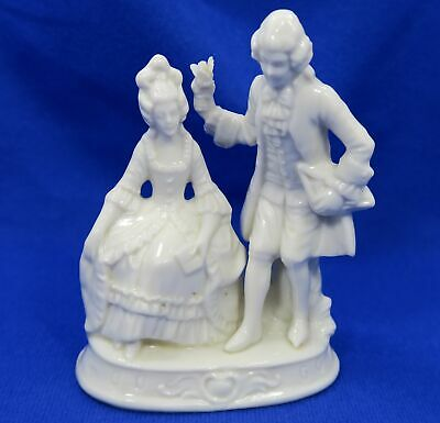 Rare Capodimonte Porcelain Figurine Victorian Couple Courting - Early Crown N