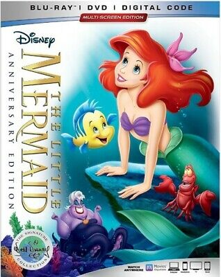 The Little Mermaid 30th Anniversary Signature Collection [New Blu-ray] With DV