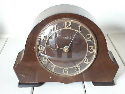 Vintage Smiths Mechanical 8 Day Art Deco Mantle Clock Spares or Repairs