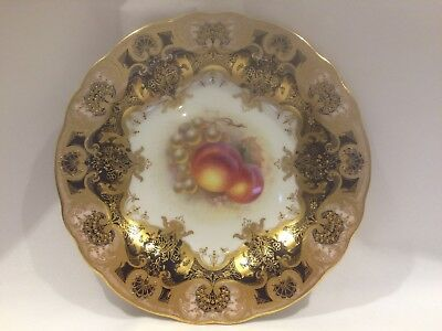 Royal Worcester Hand Painted Plate Signed H. Ayrton