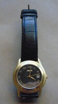 8f727deac93 MENS USED GUCCI watch with leather band -  50.00