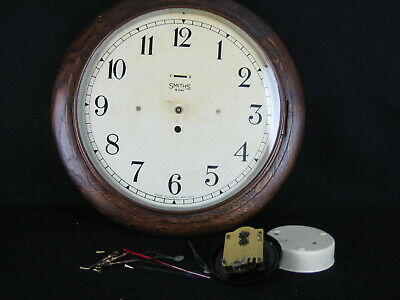 ANTIQUE 1920s SMITH 8-DAY OFFICE/SCHOOL  WALL CLOCK (Parts)