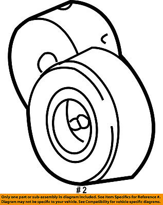 Serpentine Drive Belt Tensioner 4861277ad Oem Mopar Tensioner Pulley
