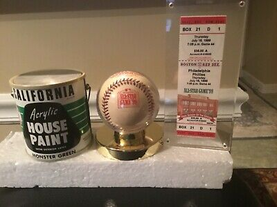 1999 All Star ticket and baseball Boston RedSox & Green Monster transistor radio