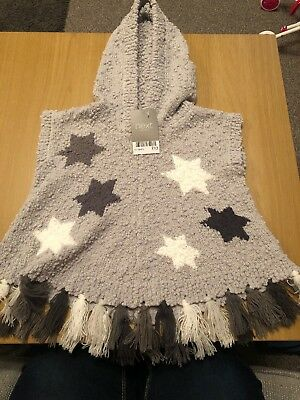 Baby Girl Next Knitted Grey Poncho 12-18 Months