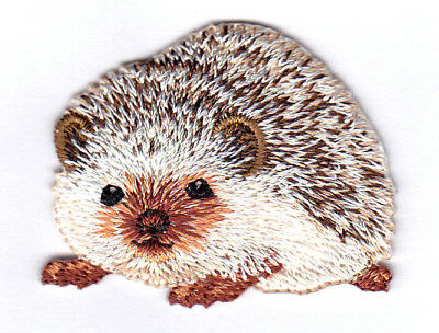 Hedgehog Animals Pets  Iron On Embroidered Applique Patch