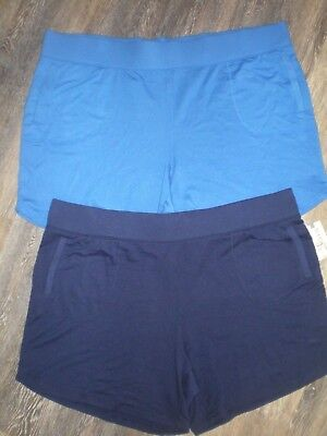 2c1e2548a95f4 2 Pair Womens Knit Shorts by Terra   Sky Size 2X NEW Royal   Navy Blue