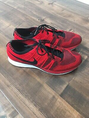 size 40 a5815 2f7d3 Nike Flyknit Trainer University Red Black White Size 10 Racer