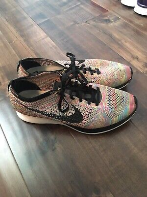 341d72ac5f968 NIKE FLYKNIT RACER Multicolor 2.0 Grey Tongue Size 10 Trainer ...