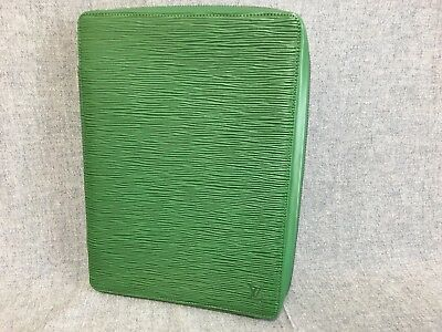 Authentic LOUIS VUITTON Vintage Epi Travel Diary Borneo Green with agenda RARE