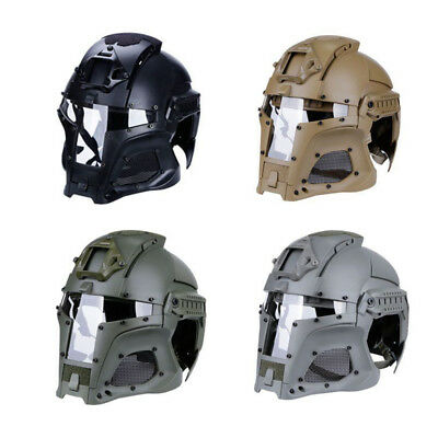 Tactical Helmet Full Face Mask Protective Airsoft Paintball Outdoor CS Game Toy