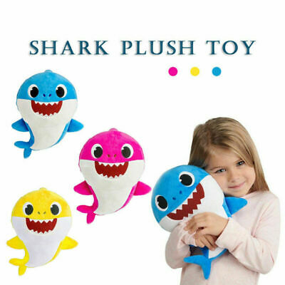 Baby Shark Singing Plush Toy Music Sound Baby Shark Doll Soft Baby Cartoon Shark