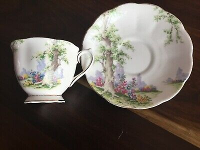 "Vintage Royal Albert ""Greenwood Tree""  Cup Saucer"