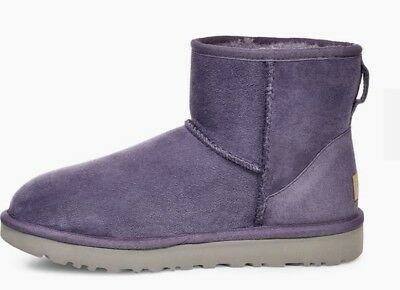 864258b7907 UGG AUSTRALIA WOMENS Classic Mini II Boot Purple Sage 1016222 Size 6 New W  Box