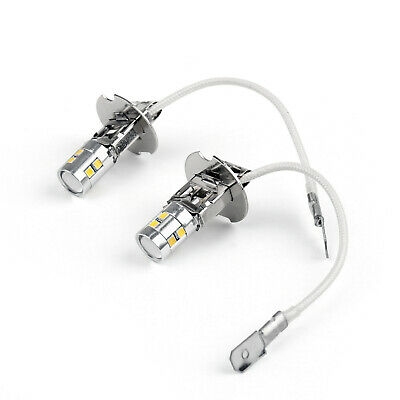 2 Pcs 6500k Xenon White H3 Dc 12v Led Bulbs For Vehicles Boats Fog