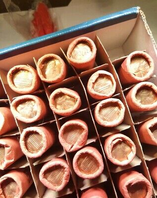 Lot 2 Of 1976 P Lincoln Memorial Cent Penny 50 Cent Obw Bu Rolls From Mint Bag