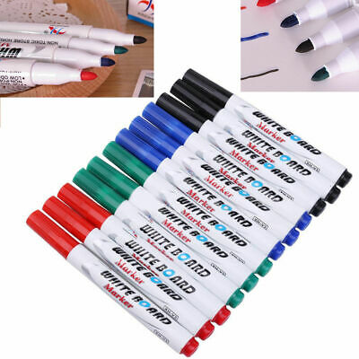 12 Colors Set Kid Whiteboard Marker Non Toxic Dry Erase Easy Wipe Bullet Tip Pen