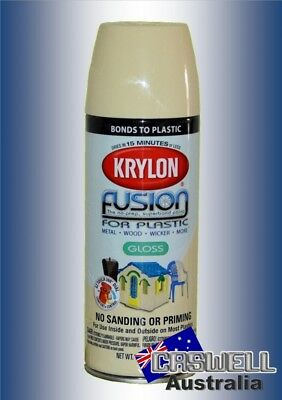 Krylon Fusion Plastic Paint 340gm - Butter Cream Gloss - AUS Seller