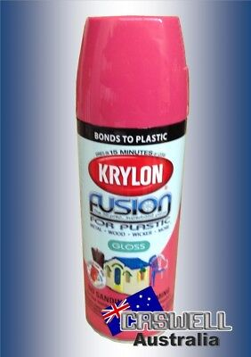 Krylon Fusion Plastic Paint 340gm - Watermelon Gloss - AUS Seller